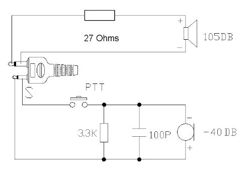 Mikrofon- und Kopfhörer-Belegung des CB-Handfunkgerätes Stabo XH 9006e